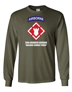 20th Engineer Brigade (Airborne) LS Cotton Shirt (FF)