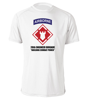 20th Engineer Brigade (Airborne) Moisture Wick T-Shirt (FF)