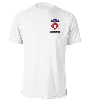 20th Engineer Brigade (Airborne) Moisture Wick T-Shirt (P)