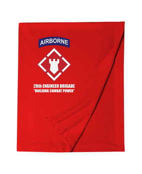 20th Engineer Brigade (Airborne) Dryblend Stadium Blanket