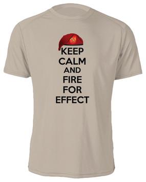 """4/319th Field Artillery  """"Keep Calm"""" Cotton Shirt"""