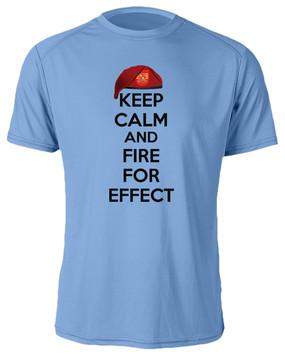 """4-319th Field Artillery """"Keep Calm"""" Moisture Wick T-Shirt"""