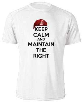 "307th Combat Engineer Battalion ""Keep Calm"" Moisture Wick Shirt"