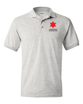 6th Infantry Division Embroidered Cotton Polo Shirt