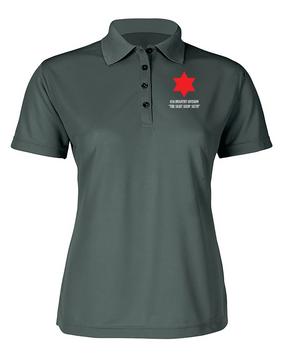 Ladies 6th Infantry Division Embroidered Moisture Wick Polo Shirt