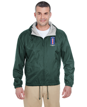 193rd Infantry Brigade (Airborne)  Embroidered Fleece-Lined Hooded Jacket