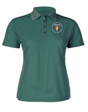 Ladies SETAF  Embroidered Moisture Wick Polo Shirt  -Crest