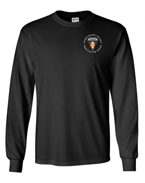 Southern European Task Force SETAF Long-Sleeve Cotton T-Shirt  (P) Crest