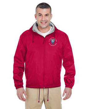 82nd Hqtrs & Hqtrs Embroidered Fleece-Lined Hooded Jacket