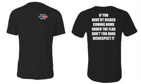 US Coast Guard Veteran Cotton Shirt- Flag Disrespect- (P)