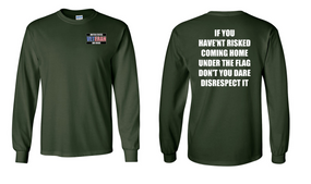 US Air Force Veteran Long-Sleeve Cotton Shirt  -Flag Disrespect- (P)