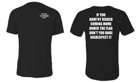 US Air Force Veteran Cotton Shirt- Flag Disrespect- (P)