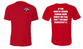 US Army Veteran Cotton Shirt- Flag Disrespect- (P)