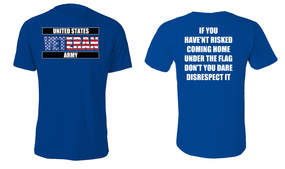 US Army Veteran Cotton Shirt- Flag Disrespect- (FF)