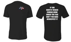 US Navy Veteran Cotton Shirt- Flag Disrespect- (P)