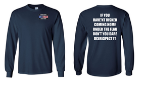 US Coast Guard Veteran Long-Sleeve Cotton Shirt  -Flag Disrespect- (P)