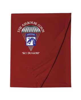 18th Airborne Corps Embroidered Dryblend Stadium Blanket