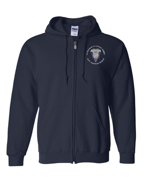 1/17th Cavalry Embroidered Hooded Sweatshirt with Zipper-M