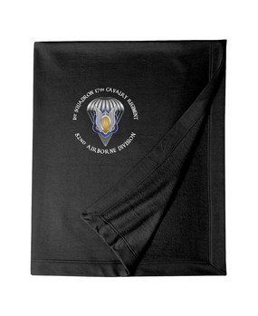 1st Squadron 17th Cavalry Regiment Embroidered Dryblend Stadium Blanket-M