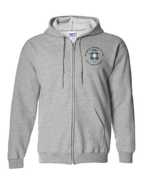 313th MI Battalion Embroidered Hooded Sweatshirt with Zipper-M