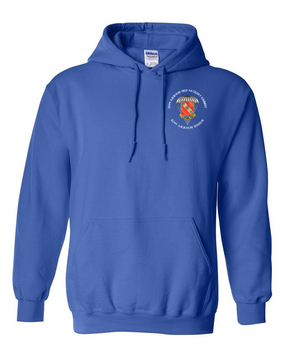 319th Field Artillery Embroidered Hooded Sweatshirt-M