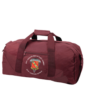 319th Field Artillery Embroidered Duffel Bag-M