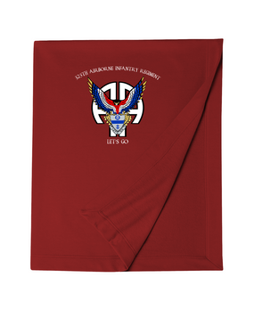 325th Airborne Infantry Regiment Embroidered Dryblend Stadium Blanket-M