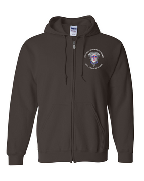 2-501st Embroidered Hooded Sweatshirt with Zipper-M