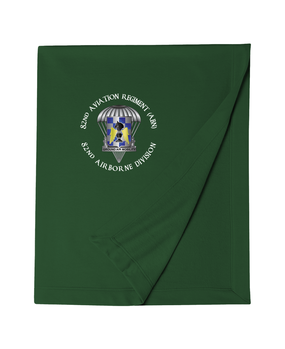 82nd Aviation Brigade Embroidered Dryblend Stadium Blanket-M
