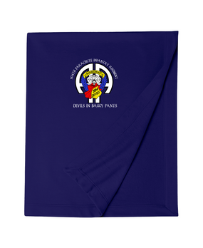 504th Parachute Infantry Regiment Embroidered Dryblend Stadium Blanket-M