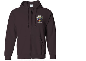 504th Parachute Infantry Regiment Embroidered Hooded Sweatshirt with Zipper-M