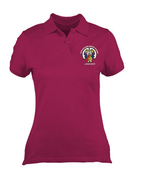 Ladies 504th Devil Embroidered Moisture Wick Polo Shirt-M