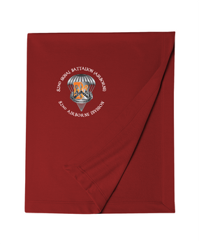 82nd Signal Battalion Embroidered Dryblend Stadium Blanket-M