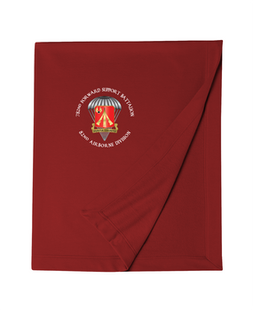 782nd Maintenance Battalion Embroidered Dryblend Stadium Blanket-M