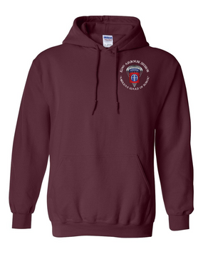 82nd Airborne Division (Parachute) Embroidered Hooded Sweatshirt-M
