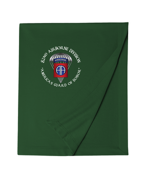 82nd Airborne Division (Parachute) Embroidered Dryblend Stadium Blanket-M