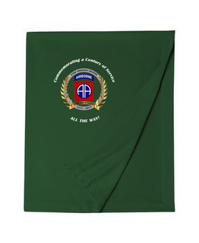 "82nd Airborne Division ""100th Anniversary"" Embroidered Dryblend Stadium Blanket-M"