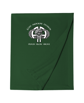 82nd Airborne Division Punisher Embroidered Dryblend Stadium Blanket-M