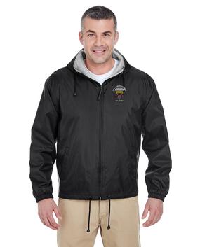 75th Ranger Regiment-Tab-Embroidered Fleece-Lined Hooded Jacket