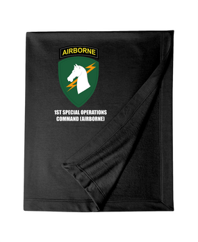 1st Special Operations Command (V) Embroidered Dryblend Stadium Blanket