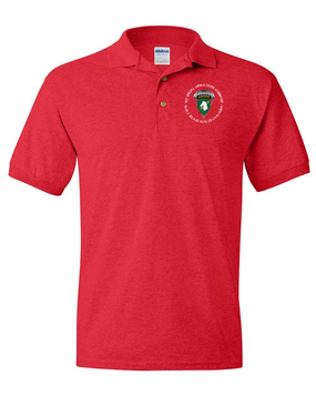 1st Special Operations Command (PARA)  Embroidered Cotton Polo Shirt