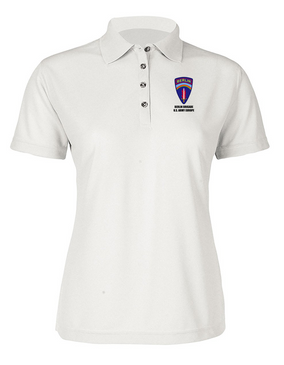 Berlin Brigade Ladies Embroidered Moisture Wick Polo Shirt