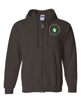 1st Special Operations Command (C) Embroidered Hooded Sweatshirt with Zipper