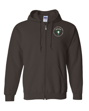 1st Special Operations Command (PARA) Embroidered Hooded Sweatshirt with Zipper