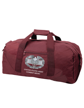 Combat Medical Badge (CMB) Embroidered Duffel Bag