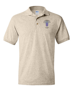 193rd Infantry Brigade (Airborne) Embroidered Cotton Polo Shirt