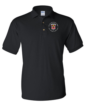 509th JRTC Embroidered Cotton Polo Shirt