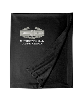 Combat Action Badge (CAB) Embroidered Dryblend Stadium Blanket