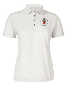 509th JRTC Ladies Embroidered Moisture Wick Polo Shirt