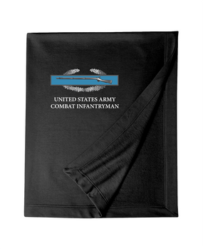 Combat Infantry Badge (CIB) Embroidered Dryblend Stadium Blanket